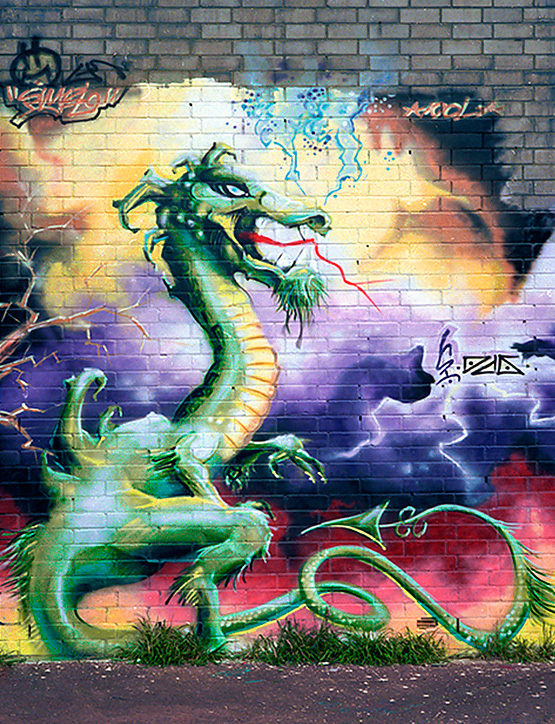Jan Stel, Dragon graffiti spraycan